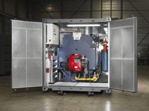 Dampfkesselcontainer