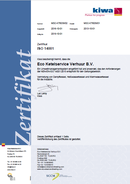 ISO 14001 D Verhuur