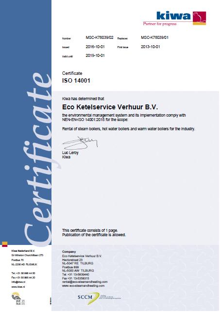 ISO 14001 E Verhuur