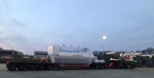 transport 20 ton stoomketel
